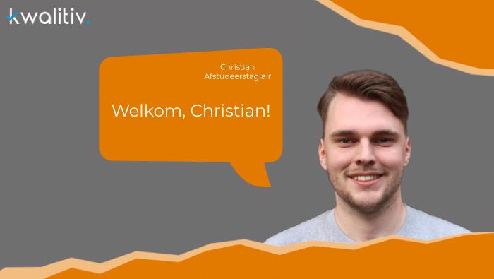 Welkom stagiair Christian