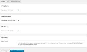 WordPress website versnellen Autoptimize